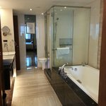 Big bathroom with standing shower + bathtub