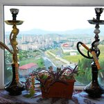 Hookahs available. View from cafeteria
