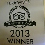 Traveller's Choice winner 2012 & 2013