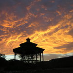 Sunset at the gazebo