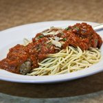 Spaghetti Marinara With Home-made Meatballs