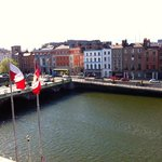 View over River Liffey, 3rd floor room.