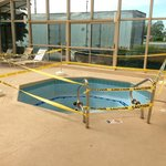 Hot tub was empty with caution tape around it!