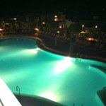 Bottom pool at night