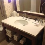 bathroom vanity with lighted makeup mirror for ladies