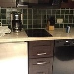 Kitchenette up close - they only provide one coffee packet