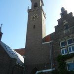Main clock tower on complex