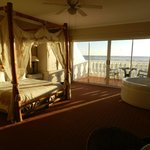 Honeymoon suite leading to balcony