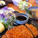 Dinner. Best tonkatsu ever. and the pumpkin apple salad is nuts. yums