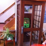 Quaint phonebox in the lobby