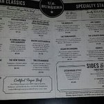 Main burger menu