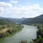 RIver Ebro in the village