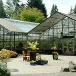 The Rutherford Conservatory and Terrace invite you to sit and enjoy nature.