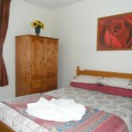 Double room with shower and toilet facilities.