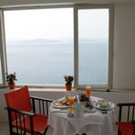 Breakfast with the sea view