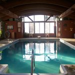 Our beautiful indoor heated pool and hot tub area!