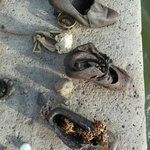 shoes near the Danube River