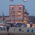 Hotel Noordzee from the beach