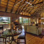 Private lounge and dining at Jessie's Suite - Camp Okavango