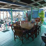 Communal decking/dining area