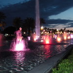 Fountains on Salou beach promenade