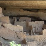 Mesa Verde cave dwellings up close