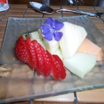Breakfast fruit served at the Kingsbrae Arms St Andrew's by the Sea