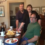 Hosts: Brian and Carol and guest Dave at breakfast