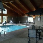 pool, hot tub, and sauna area