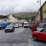 City Centre Bantry from front of Bantry Bay Hotel.  (Our red mini-bus is parked a few spots away