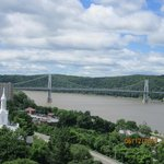 Partial view of Poughkeepsie from east side of Walkway