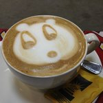 A panda in my coffee!  Great staff here.