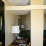 Room divider with office table
