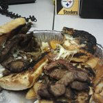Cheese Steak Sandwhich--- How could they serve this??