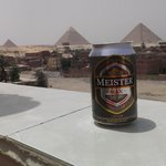 Not a bad spot to sample the local Egyptian Beer