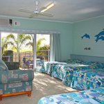 Family rooms available as are twin rooms