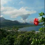 Beautiful view of Rabaul from the observatory