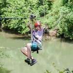 Zipline across the Catawba River. Coming in for a Ground Landing!