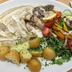 The Brasserie: whole Plaice lunch