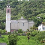 Church in Cannero which we can see from balcony.