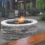 outdoor fireplace near seasons