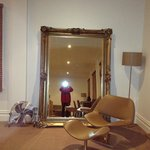 Huge mirror in the room