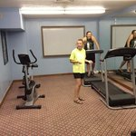 workout room-very hot in here and not much going on