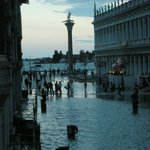 View from our room of St. Mark's Square when it flooded