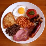 Scottish Breakfast with Haggis