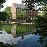 Mill building from across the river. Yes, its a great shot from the Webb property.