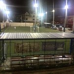 Mini-football field at the back of the hotel.