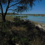 The lagoon at high tide - dry at low tide