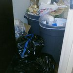 Trash in Hallway At xtended Stay America