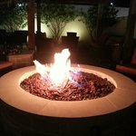 The Fire Pit Sitting Area at night, very unique experience